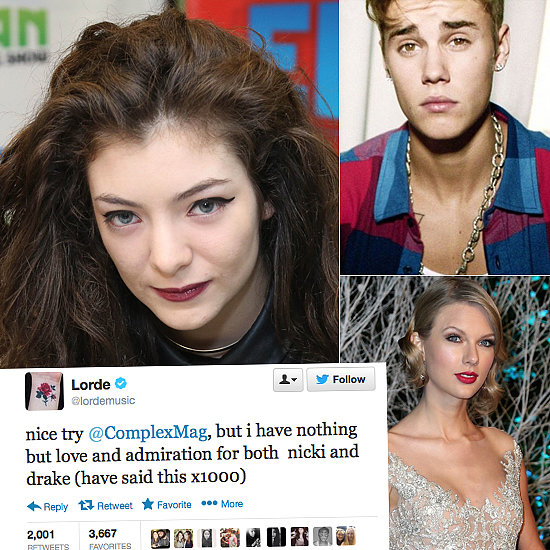 Celebrity Tweets of the Week: Lorde, Justin Bieber, Taylor Swift and More!