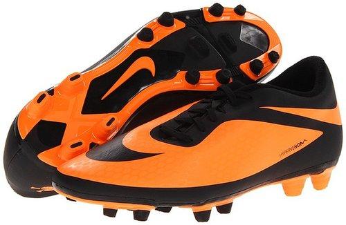 Nike - Hypervenom Phade FG (Black/Bright Citrus/Black) - Footwear