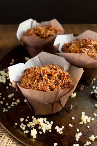Sweet Potato Chocolate Quinoa Crumble Muffins #glutenfree #dairyfree #sweetpotato #muffins