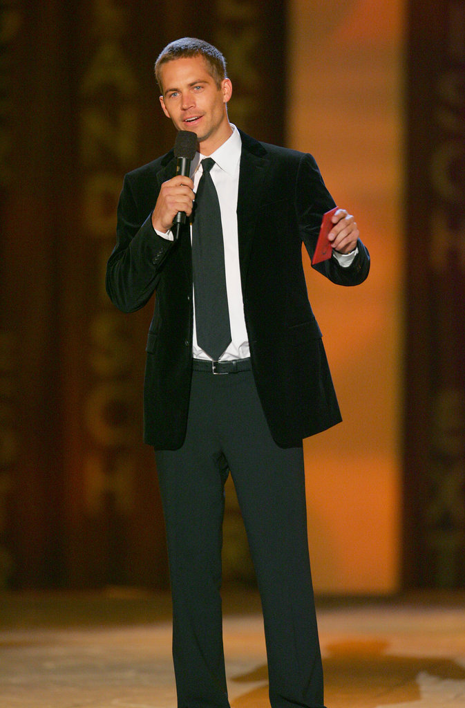 Paul Walker spoke on stage during the Taurus World Stunt Awards in LA in September 2005.