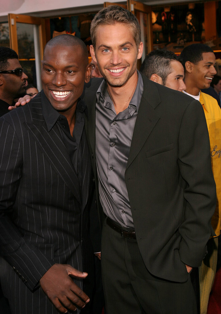 Paul Walker posed with Tyrese Gibson at the LA premiere of 2 Fast 2 Furious in June 2003.