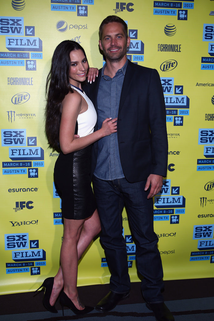 Paul Walker and his costar Genesis Rodriguez promoted their film Hours at the SXSW Film Festival in Austin, TX, in March 2013.