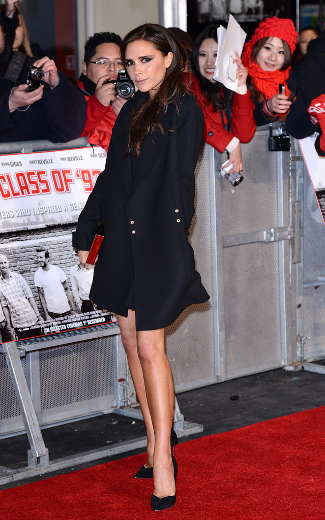 Victoria Beckham at the Class of '92 premiere.