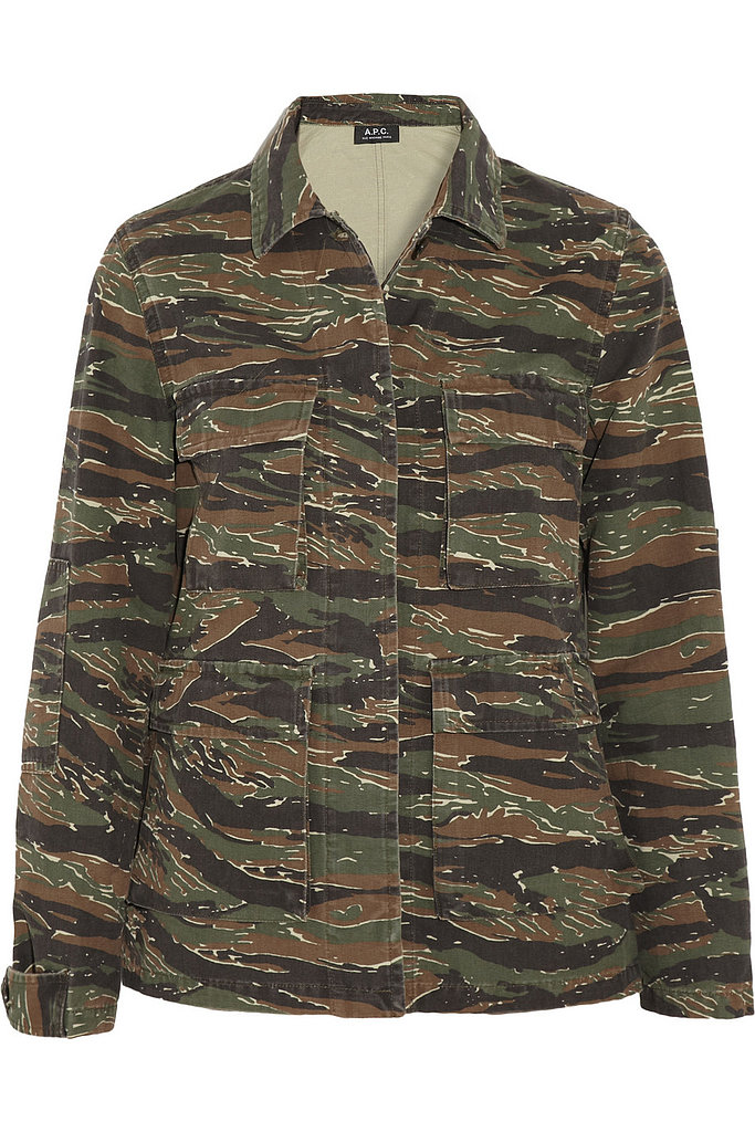 A.P.C. Camouflage-Print Cotton-Canvas Jacket ($249, originally $415)