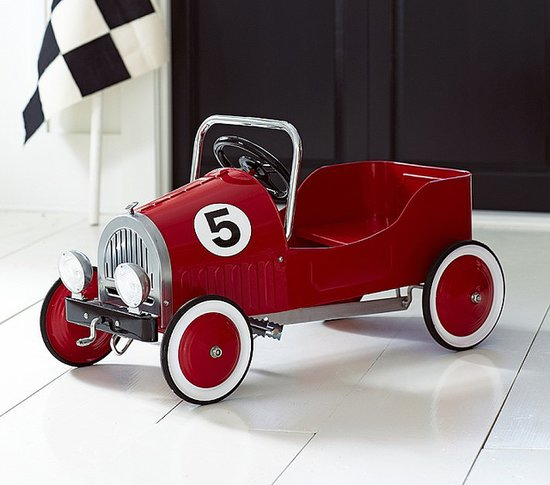Pottery Barn Kids Red Retro Pedal Car