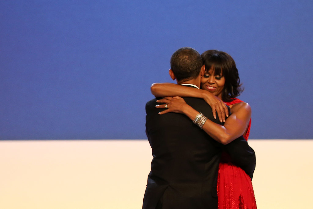The Obamas shared a sweet embrace at the Inaugural Ball.