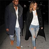 That one time Kim and Kanye totally matched. Source: Instagram user kimkardashian