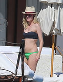 In November, Diane Kruger looked chic in a mismatched two-piece while vacationing in Cabo San Lucas, Mexico.