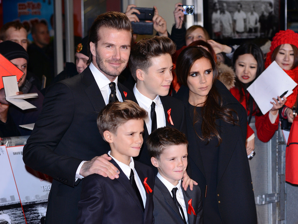 David and Victoria Beckham took their three sons — Brooklyn, Romeo, and Cruz — to the world premiere of The Class of '92 in London.