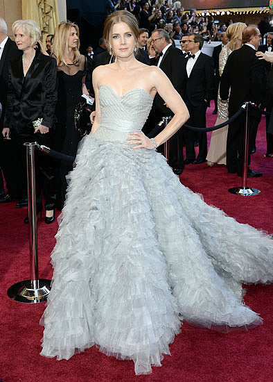 9. Amy Adams in Oscar de la Renta at the Academy Awards