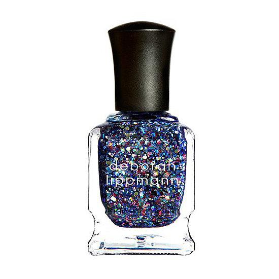 Add a little edge to your sparkling manicure with Deborah Lippmann Stronger ($18). Formulated by Deborah with Kelly Clarkson, the flecks of large holographic glitter and violet base are right on for bringing out your inner rock star.