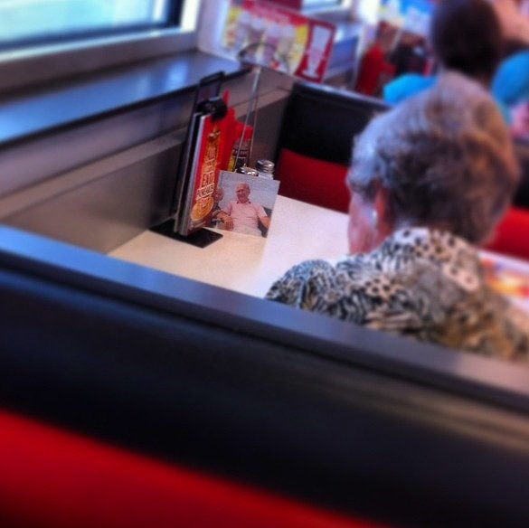 Widow Continues to Eat Lunch With Her Husband Every Day