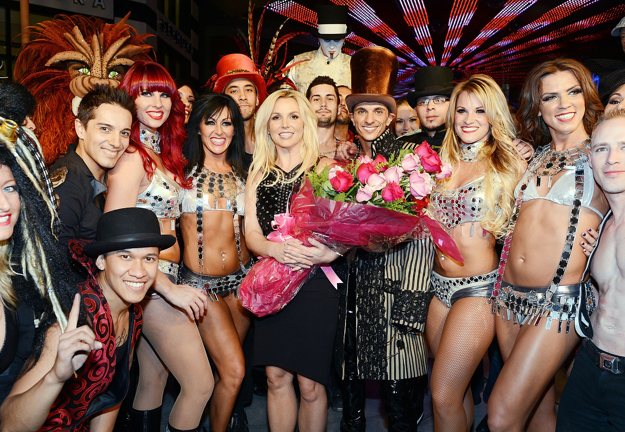 Britney Spears celebrated her official arrival at Planet Hollywood Resort &
