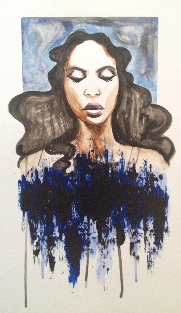 A woman who appreciates the beauty of curls can also appreciate gorgeous artwork. Gift her a curl-centric painting like this Woman in Blue painting ($60) to grace her bathroom walls.