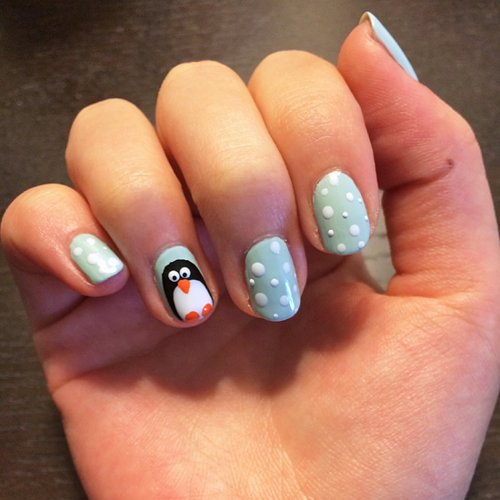 How To Create Penguin Nail Art
