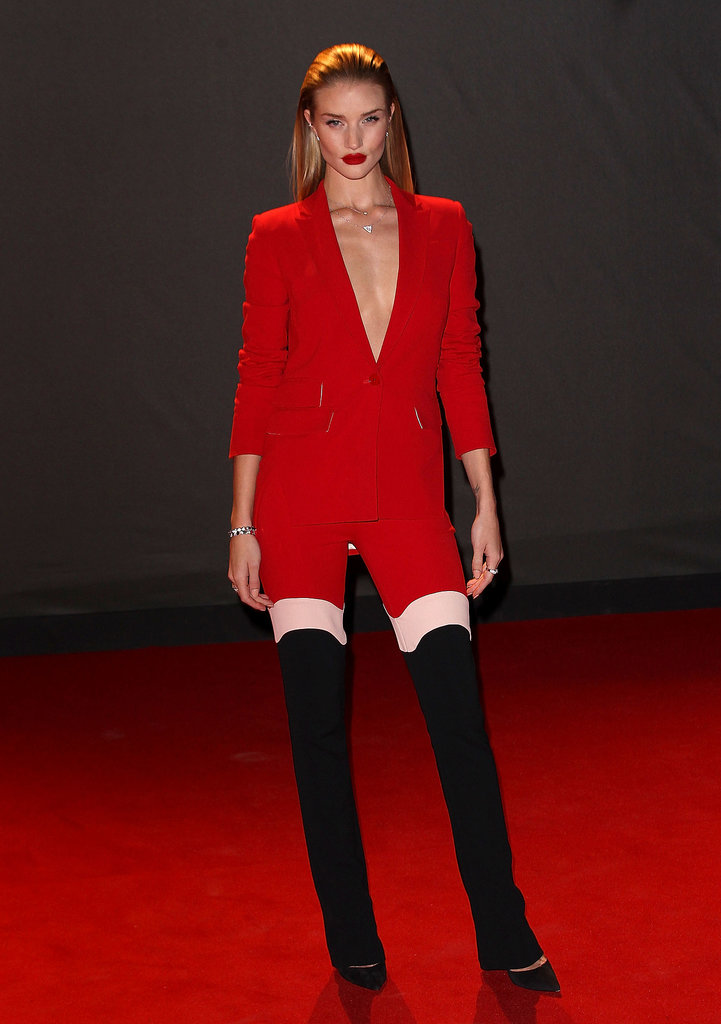 Rosie Huntington-Whiteley in Antonio Berardi at the British Fashion Awards.
