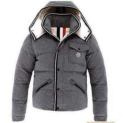 Moncler Mens Branson Classic Short Down Jackets Grey