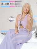 At the American Music Awards, Lady Gaga rode in on her (fake) white horse with extralong blond hair. Every girl's fairy-tale fantasy.