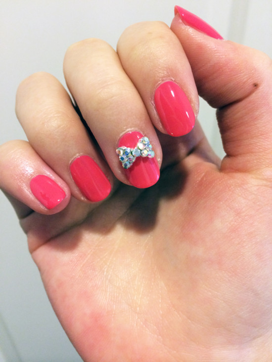 Bow Nail Design Ideas How to get a bowtie nail art