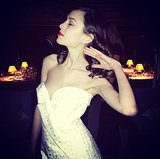 Glammed up for the British Fashion Awards, Alexa Chung modeled her best hair flip. Source: Instagram user chungalexa