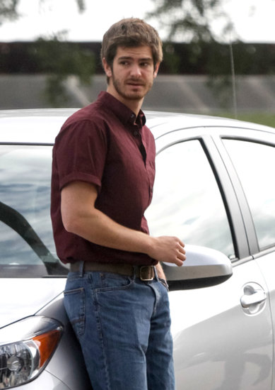 Andrew Garfield worked on 99 Homes in New Orleans on Monday.