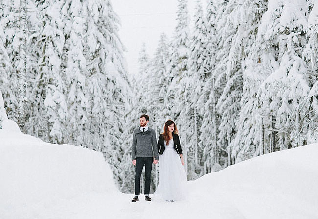 Use a Dreamy Snow Backdrop