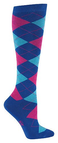 Of course, if you're going to give a pair of actual argyle socks, choose a bright color combination like the one on this pair from Sock It to Me ($12).