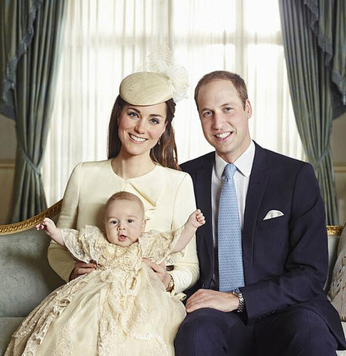 Kate Middleton, Prince William, Prince George in 2013
