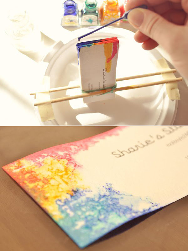 Colorful Dyed Business Cards