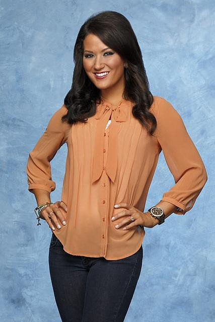 Ashley Age: 25 Occupation: Grade-school teacher Hometown: Roanoke, TX First Impression: She looks quite conservative for the Bachelor crowd.