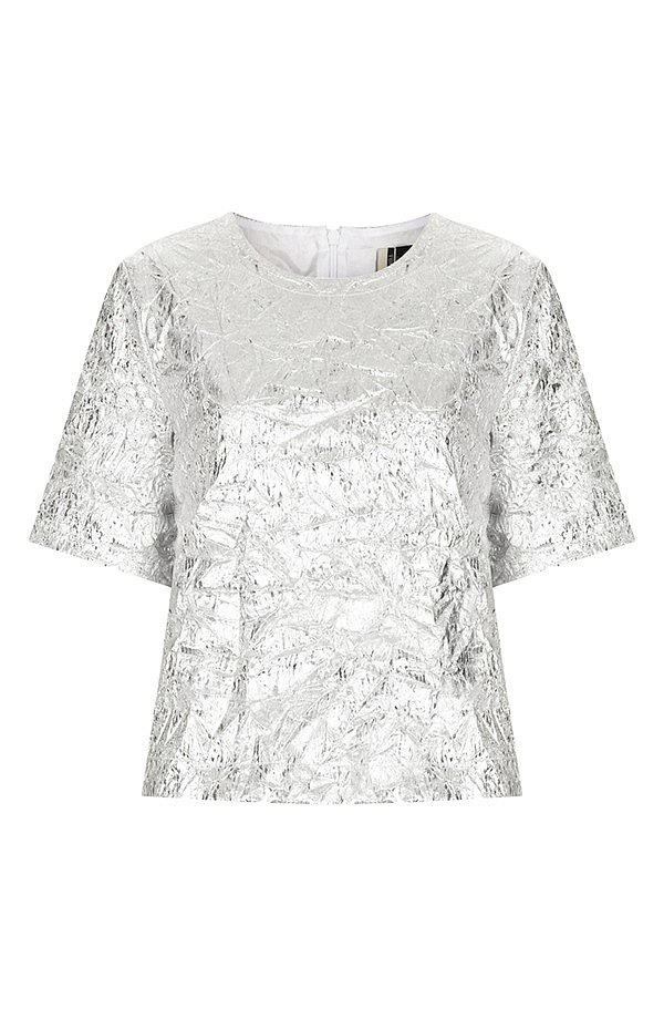 This Kate Bosworth For Topshop Metallic Tee ($130) was made for the trendsetting type.
