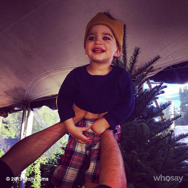 Brooks Stuber made an adorable top to his family's Christmas tree. Source: Instagram user mollybsims