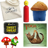 What do yoga cats and muffin tops have in common? Funny you should ask! They make perfect fitness-related gifts for any white elephant exchanges on your calendar this season. For friends who can take a good joke, these 10 finds are ones they'll never forget!