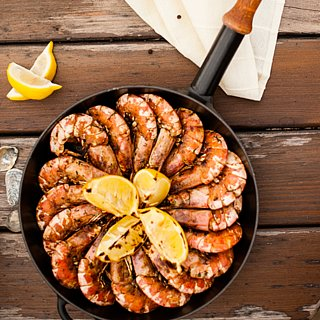 Christmas Seafood Recipes: BBQ Split Prawns