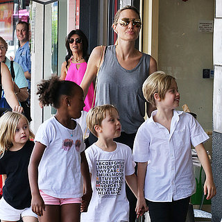 Angelina Jolie With Her Kids in Australia