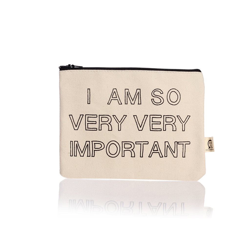 This Pamela Barsky zip pouch ($17) tells it like it is.