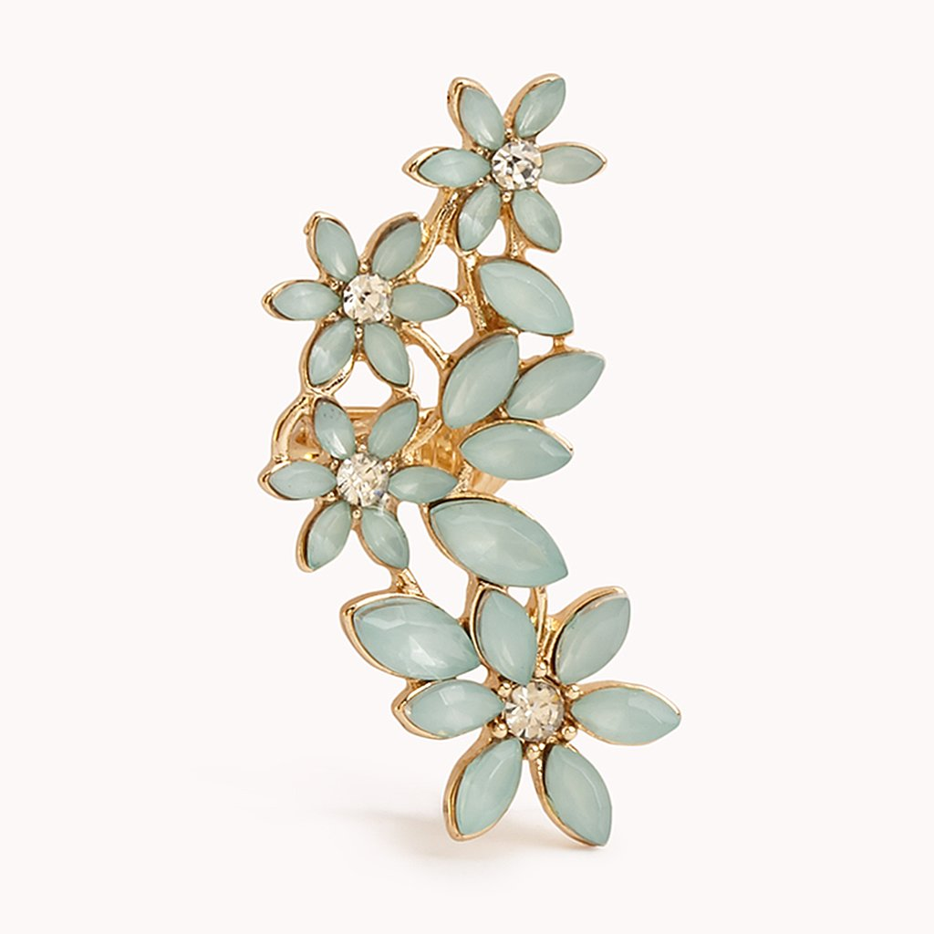 If you think ear cuffs are only edgy — think again! This floral bauble from Forever 21 ($5) is downright feminine.
