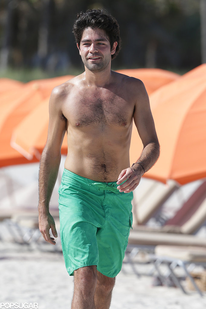 Adrian Grenier took in the Miami sun in December.