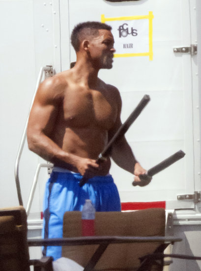 Will Smith got muscular in New Orleans in September.