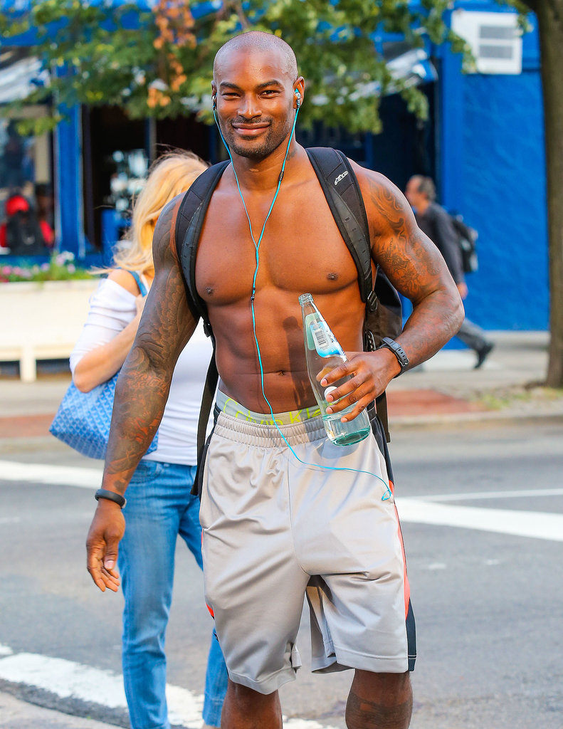Tyson Beckford grabbed a water and showed off his guns around NYC in September.