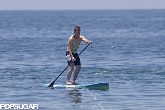 Tom Cruise hopped on a paddleboard in Malibu in June.