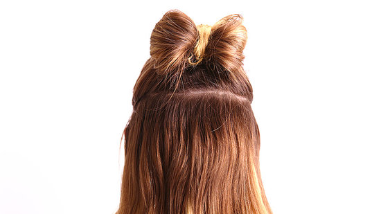 A Holiday Hair Bow in 2 Minutes Flat
