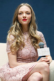 Looking stunning with a bright red lip, Amanda Seyfried exhibits why she's the spokesmodel for luxury skin care and makeup brand Clé de Peau Beauté in Seoul, South Korea. And if her long, flowing waves are any indication, someone needs to sign her to a hair contract, too!