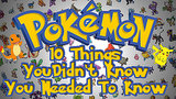 Siri Is a Pokédex?! 10 Little-Known Pokémon Facts