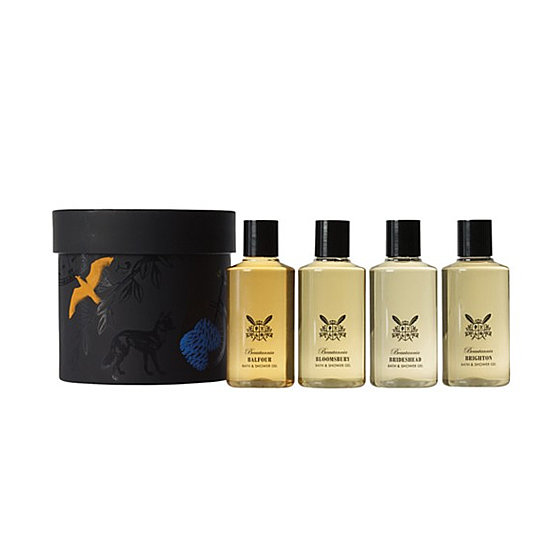 Your favorite guy friend (or significant other) will love the Beautannia British Bathing Heroes Shower Gel Set ($40), and the box is so chic that wrapping paper is optional.
