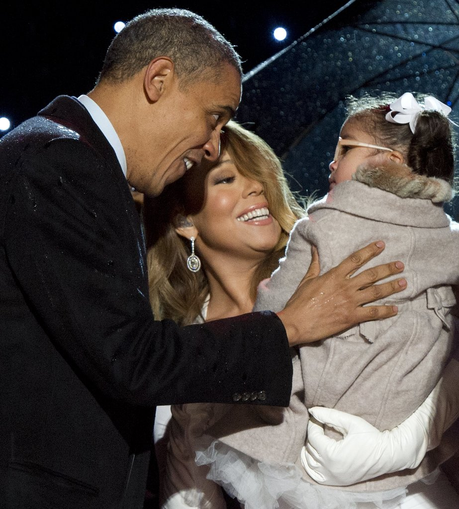 Mariah Carey's daughter, Monroe, met President Obama at the national tree lighting.