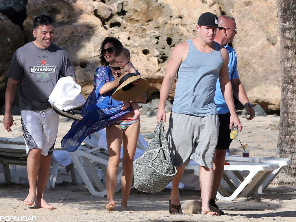 Jenna Dewan and Channing Tatum hung out on the beach in Puerto Rico.