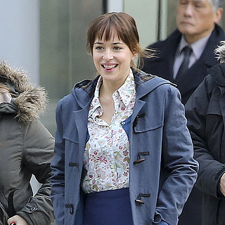 Dakota Johnson Filming Fifty Shades of Grey Movie Pictures