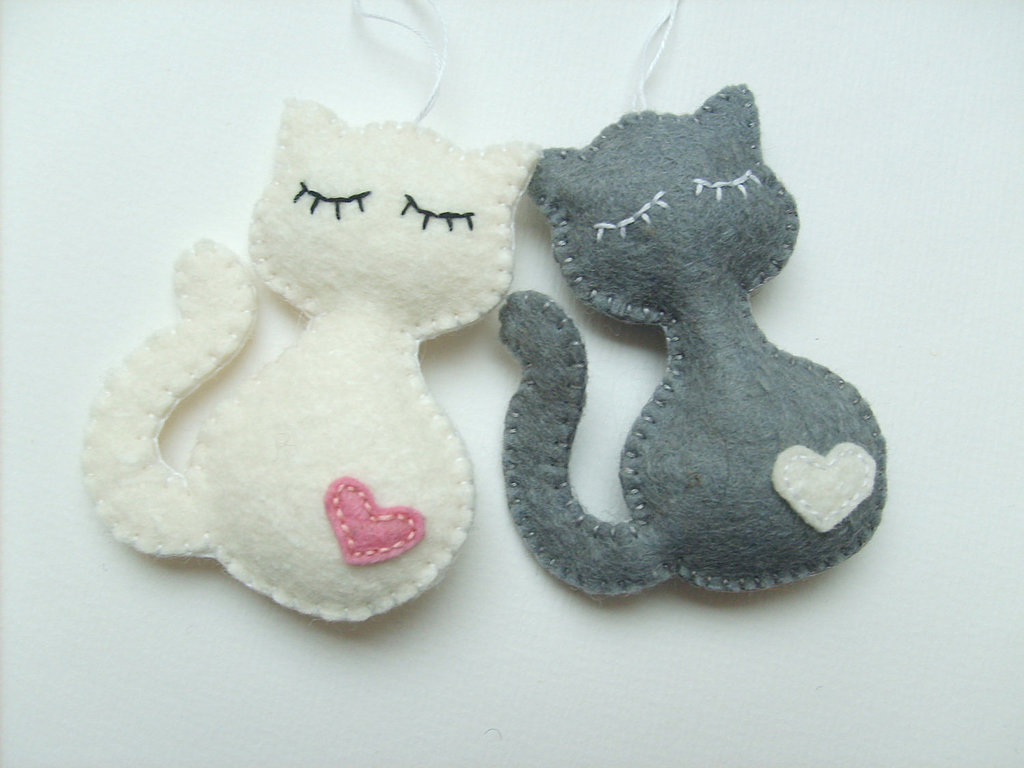 Felt Cat Ornament ($5)