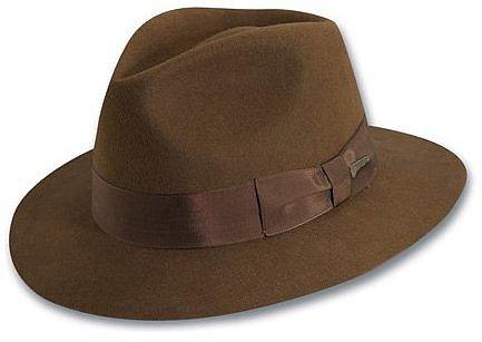 Indiana Jones Men's Wool Felt Fedora